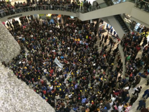Protesters violating property rights in Mall of America.